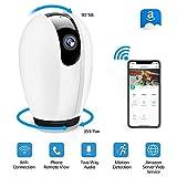 Cámara IP, DIGOO Camaras de Vigilancia WiFi Interior HD 720P P2P con IR Visión Nocturna/Detección de Movimiento con 2 Vías de Audio Micrófono y Altavoz para Seguridad Doméstica/Bebé/Mascotas.