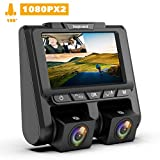 """TOGUARD Dual Dash CAM FHD 1080P+1080P Front and Rear Dashcam for Cars 3"""" LCD 340° Dashboard Car Camera Dashcams with G-Sensor, WDR, Parking Monitor, Motion Detection for Uber Lyft Taxi"""