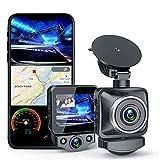 ANKEWAY Cámara de Coche Doble Dash Cam con WiFi y GPS, Doble 1080P Full HD 170° Gran Angular con HDR, G-Sensor, Detección de Movimiento, Grabación en Bucle, Visión Nocturna, Monitor de Aparcamiento
