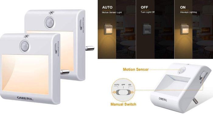 luz nocturna con sensor de movimiento