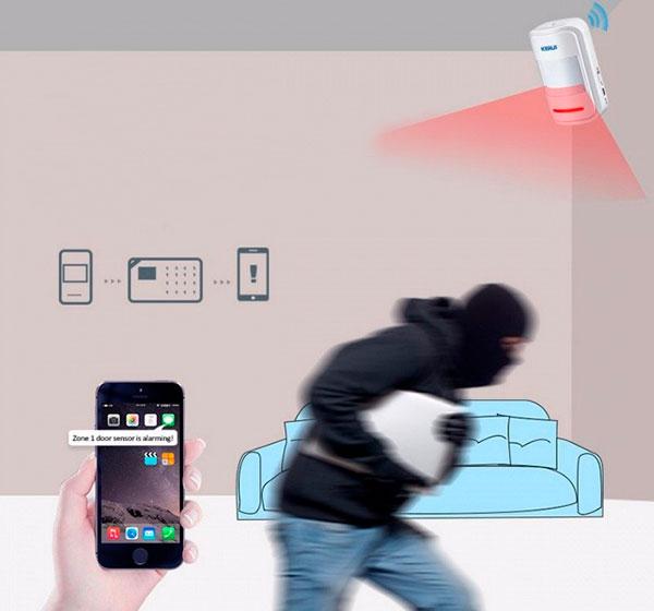 sensor de movimiento y alarma