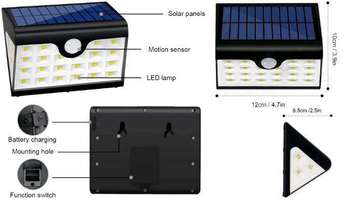 sensor de movimiento con luz