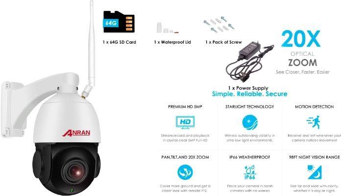 camara de videovigilancia wifi exterior