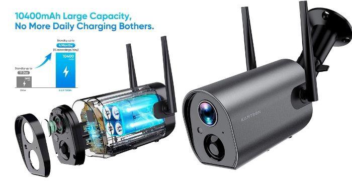 cámara wifi exterior con bateria
