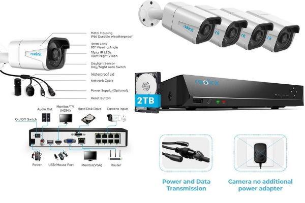 sistema cámaras vigilancia reolink 4k